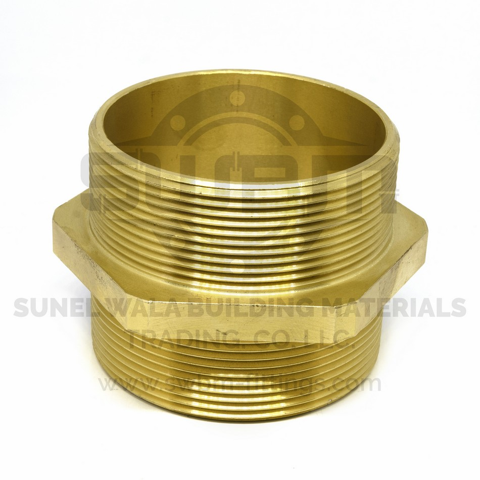 Hex Nipple Brass